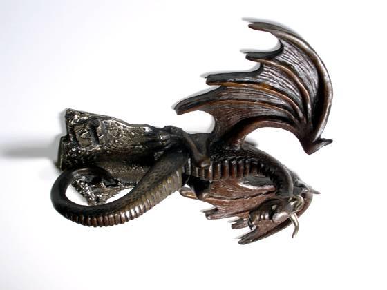 Dragon hoard door knocker door knockers by omega artworks - Dragon door knockers ...