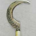 Celtic sickle made with special special piece of stone provided by customer.