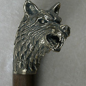 Snarling Wolf Cane