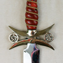 Red dymondwood with twisted wire inlay,