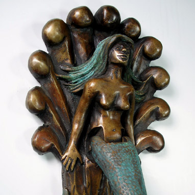 Mermaid door knocker door knockers by omega artworks - Mermaid door knocker ...